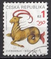 3063 Ceca 1998 Segni Zodiaco Zodiac  Capricorno Viaggiato Used Republica Ceska - Astrologia