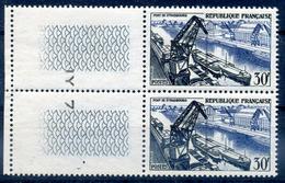 FRANCE 1956 YVERT  N° 1080 Neuf LUXE  MNH DOUBLON  BORD DE FEUILLE COTE 34E - Nuovi