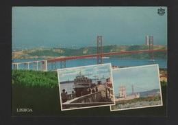 POSTCARD  BARCO CACILHEIRO 1970 Years  - CACILHAS ALMADA LISBOA LISBON RIVER TEJO BOATS SHIPS PONTE BRIDGE