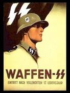 Militaria WW2 - Photo Affiche Allemande - Waffen SS - - 1939-45
