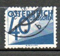 AUTRICHE Taxe 40g Bleu 1925-34 N°149 - 1918-1945 1ste Republiek