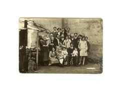 1928 - Une Famille, Baptême 6x9cm - Photos