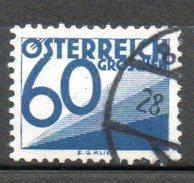 AUTRICHE Taxe 60g Bleu 1925-34 N°150 - 1918-1945 1ste Republiek