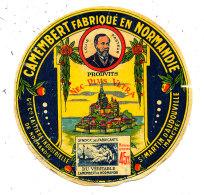 N 349 -  ETIQUETTE DE FROMAGE  - CAMEMBERT Cie LAITIERE INSDUSTRIELLE DE NORMANDIE  ST MARTIN D'AUDOUVILL     (MANCHE) - Formaggio