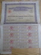 Société Anonyme Industrielle Du Bas Ogooué Action De Deux Cent Cinquante  N°08,470 1923 - 29/32 Coupons BE VOIR CLICHES - Shareholdings