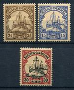 34080) DT. KOLONIEN Ostafrika # 30, 33 + 35 Gefalzt Aus 1905, 26.- € - Colonia: Africa Orientale