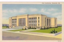 Indiana Hammond The Civic Auditorium Curteich - Hammond