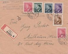 Bohême Et Moravie Jolie Lettre Recommandée Prag Pour L'Alsace 1943 - Covers & Documents