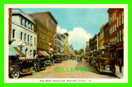 BROCKVILLE, ONTARIO - KING STREET LOOKING EAST - ANIMATED WITH OLD CARS - PECO - - Brockville