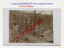 Camp Du BORRIESWALD-ARGONNE-MEUSE-2x CARTES PHOTOS Allemandes-GUERRE 14-18-1 WK-Militaria- - Weltkrieg 1914-18