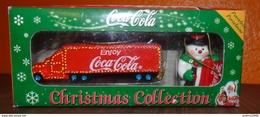 COCA-COLA - Christmas Collection - Camion + Figurine Porcelaine Peinte Main - Giocattoli