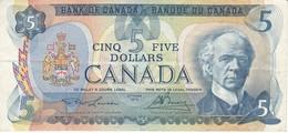 BILLETE DE CANADA DE 5 DOLLARS DEL AÑO 1979  (BANKNOTE) - Canada