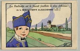 La Badinette Biscuit Feuilleté Biscuiterie Alsacienne Hansi 1917 Gosse D'Alsace Le Paradis Tricolore - Hansi