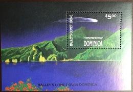 Dominica 1986 Haleys Comet  Minisheet MNH - Dominica (1978-...)