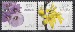 2615 Australia 2007 Fiori Flowers Di Sturt Desert Rose - Phebalium Whitei Perf. 14x14 E 1/2 - Vegetazione