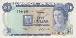 BILLETE DE BERMUDA DE 1 DOLLAR DEL AÑO 1984   (BANKNOTE) - Bermudas