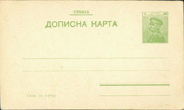 SERBIA Postal Stationery Card - Carte Postale - 5 Para, King Peter I (1911) - Unused #2 - Serbia