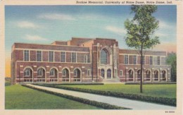 Indiana Notre Dame Rockne Memorial University Of Notre Dame Curt