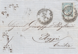 Torino Per Reggio Emilia. Cover 1866 - Marcophilie