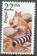 1987 22 Cents Wildlife - Ringtail Mint Never Hinged - United States