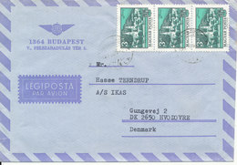 Hungary Air Mail Cover Sent To Denmark