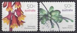 2617 Australia 2007 Fiori Flowers Green Spider Flower - Tasmaniam Christmas Bell Perf. 11 E 1/4 Autoadesivo - Vegetazione