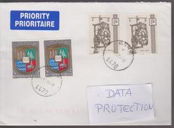 M 495) Österreich Mi# 1328 (2), 1401 (2) Brief: Wanduhr Uhr, Bodenkultur Res Nat Techn - Uhrmacherei