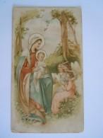Image Pieuse Marie Jésus Anges Prière De St-François De Sales 1911 Un Peu Sale - Devotion Images