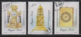 M 504) Ungarn 1990 Mi# 4120-4122 O: Reiseuhr In Buchform, Tischuhr Kaminuhr Uhr - Uhrmacherei
