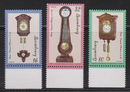 M 505) Luxemburg 1997 Mi# 4120-4122 **: Kappauer-Uhr, Astronomische Uhr, Kopfuhr - Uhrmacherei