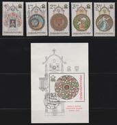 M 511) CSSR 1978 Mi# 2451-2455 **, Bl 35 O Ersttag: Astronomische Uhr Turmuhr Prag Altstadt - Uhrmacherei