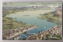 SUISSE - GENEVE - Lac Léman - Nom Des Villages - GE Genève