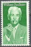 1987 22 Cents Faulkner Mint Never Hinged - United States