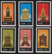 M 513) DDR 1978 Mi# 2055-2060 **: Uhren Automaten- Astronomische Uhr Stutzuhr - Uhrmacherei