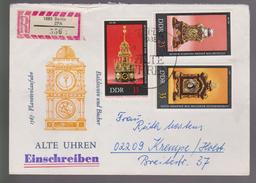 M 514) DDR 1978 Mi# 2056,2057,2059,2060 FDC: Astronomische Uhr Stutzuhr Automatenuhr - Uhrmacherei