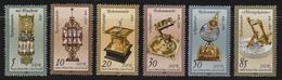 M 515) DDR 1978 Mi# 2796-2801 **: Kostbare Uhren, Sanduhr Sonnenuhr Uhr - Uhrmacherei