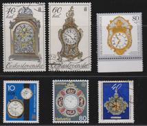 M 517) Diverse Briefmarken: Thema Uhr Uhren U.a. Armbanduhr Taschenuhr - Uhrmacherei