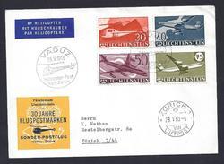 1960 - LIECHTENSTEIN - AIRPOST 30 JAHRE FLUGPOSTMARKEN - FDC