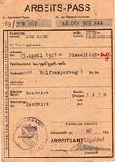 ARBEITS - PASS 1947 - Historische Dokumente