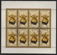 M 554) DDR 1983 Mi# 2798 KB FD ETSSt Plattenfehler PF I: Horizontal-Tisch-Sonnenuhr Uhr - Uhrmacherei