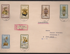 M 556) DDR 1983 Mi# 2796-2801 Satz-Brief: Sanduhr Sonnenuhr Uhr (Leipzig Nach Laboe) - Uhrmacherei