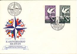 Portugal FDC OTAN/NATO Complete With Cachet 2-3-1960 - FDC