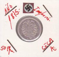 GERMANI  DEUTSCHES REICH  50 Pfennig  Imperio Año 1875-A - 50 Pfennig
