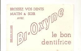 Buvard BI-OXYNE Le Bon Dentifrice - Produits Pharmaceutiques