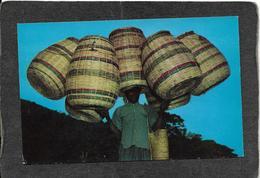 Haiti-Haitian Basket Vendor 1950s - Mint Antique Postcard