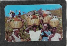 Haiti-Peasants Carrying Vegetables To Market 1950s - Mint Antique Postcard