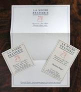 """Facture Lettre 1987, La Première """"MICRO BRASSERIE"""" De PARIS, Sous-Bock, Carte - Canada"""