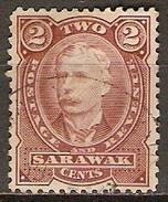 SARAWAK     -   1895 .   Y&T N° 31 Oblitéré.    Cote 15,00 Euros - Sarawak (...-1963)