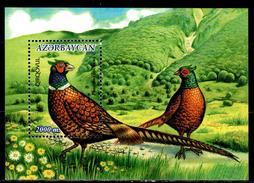 Azerbaijan 2000 Aserbaidschan Mi Block 42(482) Hunting Pheasant / Jagdfasan **/MNH - Vögel