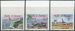 Wallis Et Futuna 1980. Michel #369/71 MNH/Luxe. Airplanes. Imperforeted. (Ts27) - Non Dentelés, épreuves & Variétés